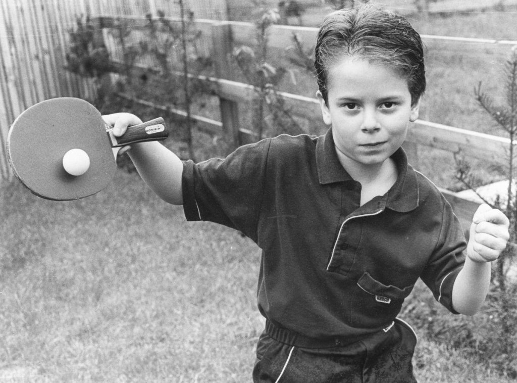 Andrew 8 years old B&W