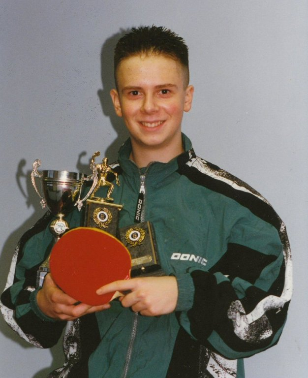 Andrew with Trophies